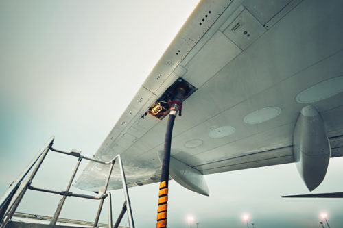 Refueling the aircraft
